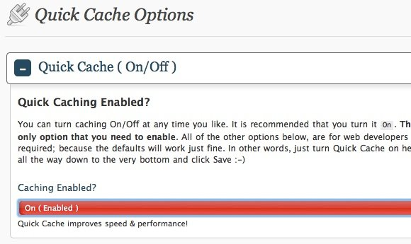 Speed-Wordpress-Quick-Cache-Options