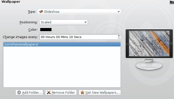 KDE wallpaper configuration dialog