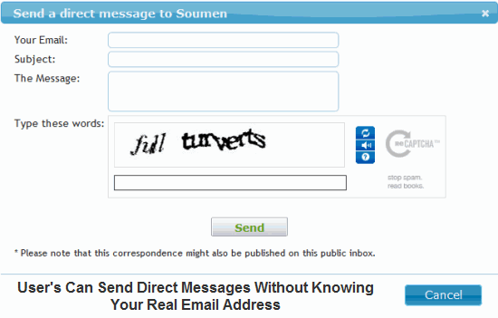 Request user's to send you a Direct Message