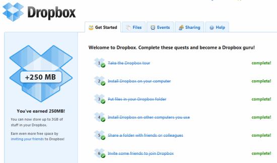 Free Dropbox Storage Space