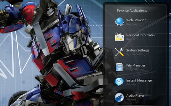 Plasma shelf widget on desktop