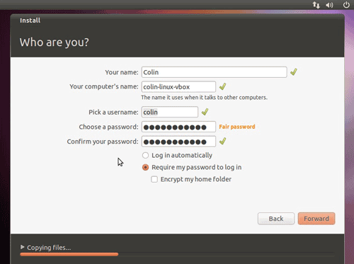 set up user account ubuntu