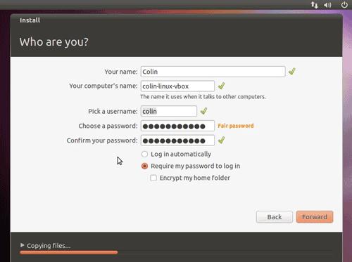 set up user account ubuntu