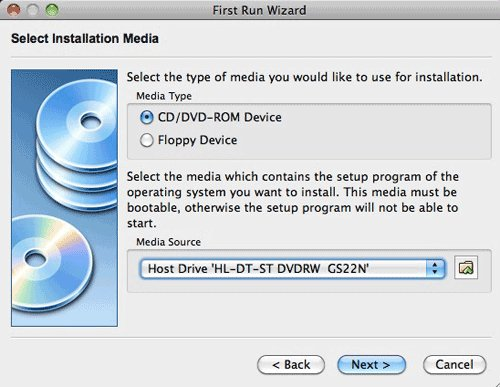 virtualbox install media