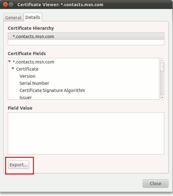 pidgin-export-certificate