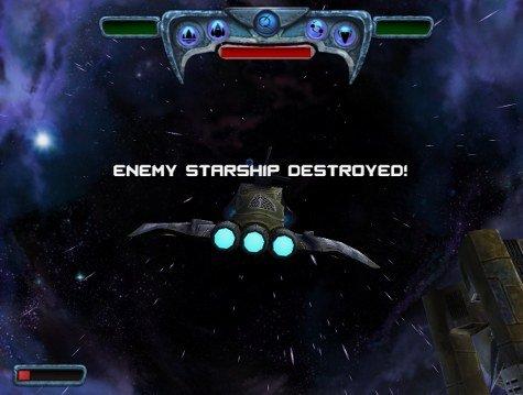 Sun Blast starship destroyed screen shot
