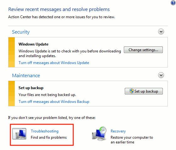 windows-action-center-select-troubleshooting