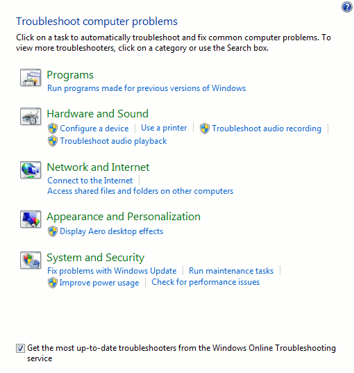 windows-troubleshooting-list