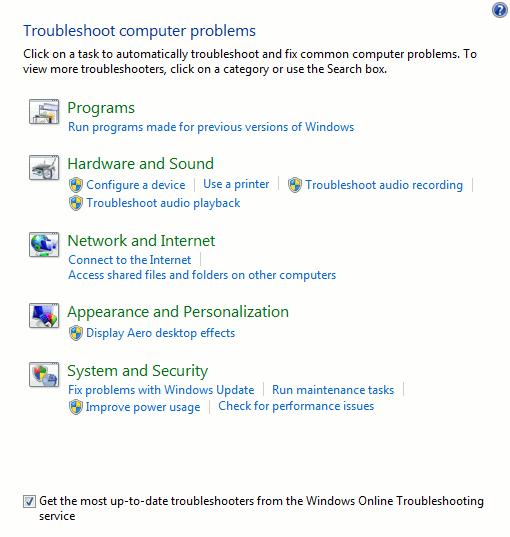 windows-troubleshooting-list