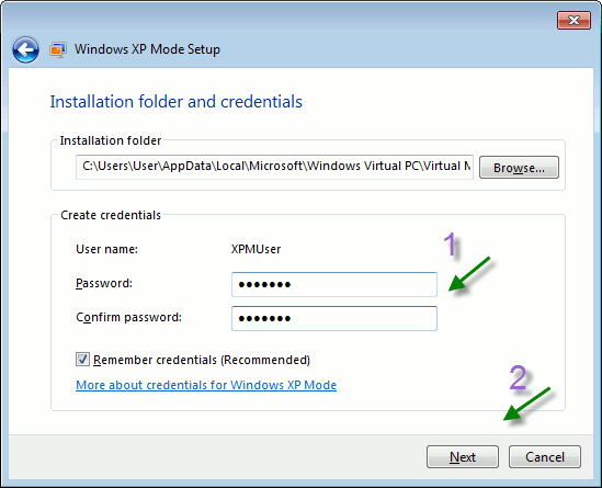 xpmode-folder-credentials