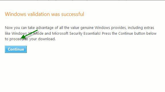 xpmode-validation-sucess