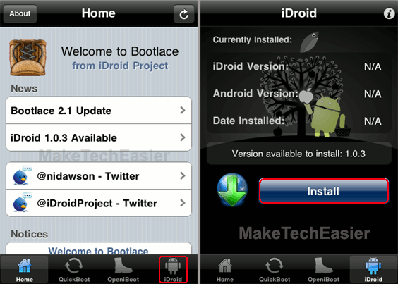 Bootlace-Install-iDroid