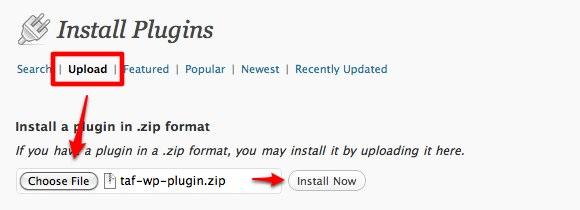 TAF Install Plugins