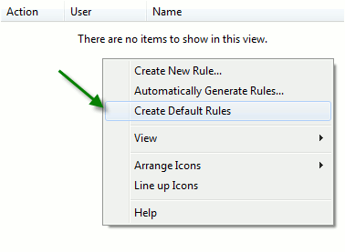 applocker-ceate-default-rules
