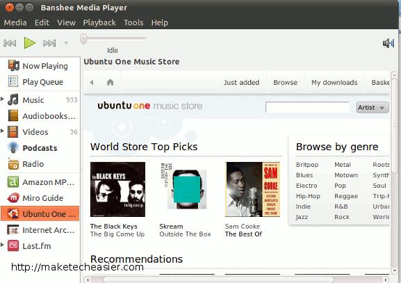 banshee-ubuntuone-music-store