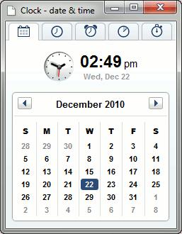 chrome-clock