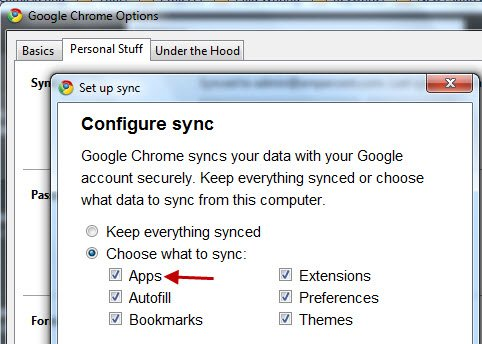 chrome-web-app-sync