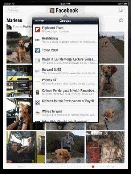 Flipboard Facebook integration