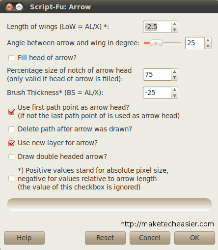gimp-draw-arrow-option