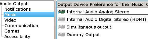 KDE Multimedia settings