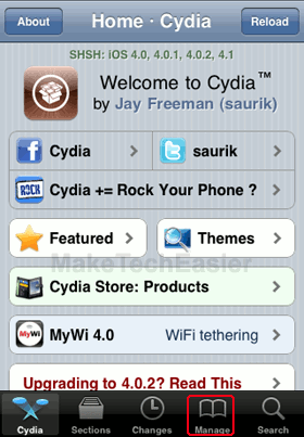 iPhone-Cydia-Manage-Tab