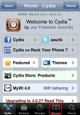 iPhone-Cydia-Manage-Tab
