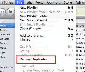 itunes-menu-file-display-duplicates