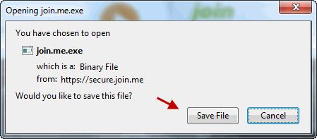 Save Joinme Executable On Your Computer