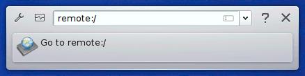 KDE Krunner remote location