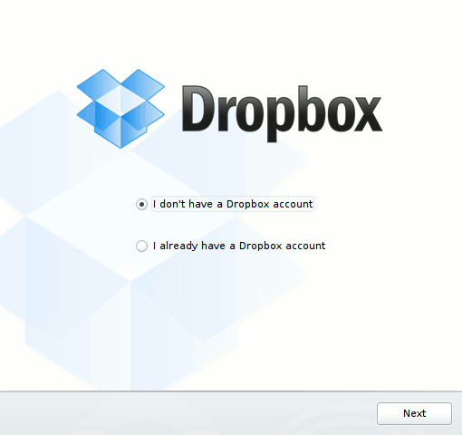Kfilebox startup Dropbox account question