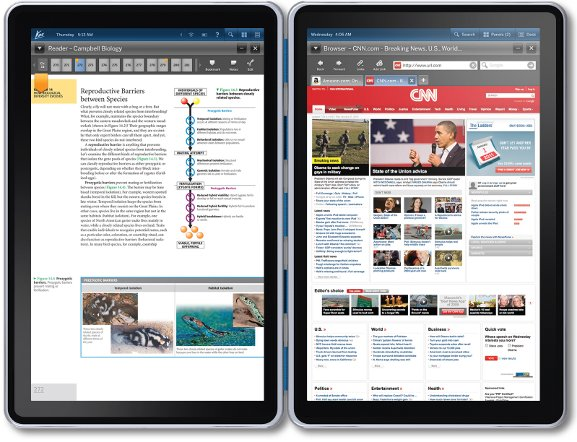 Kno tablet dual-screen web and ereader
