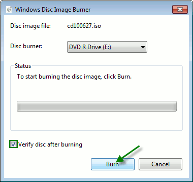 pwd-Burn-Disc-Image