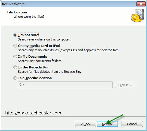 recuvaportable-File-Location