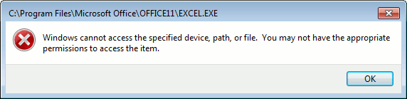 Windows-Cannot-Access-Message