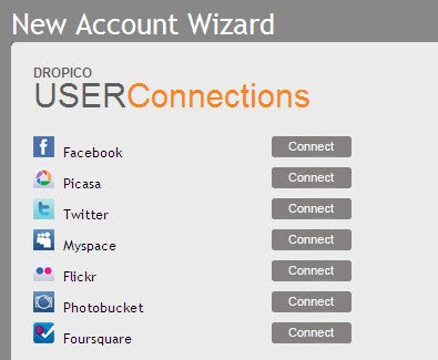 Dropico: Connect Your social networking accounts