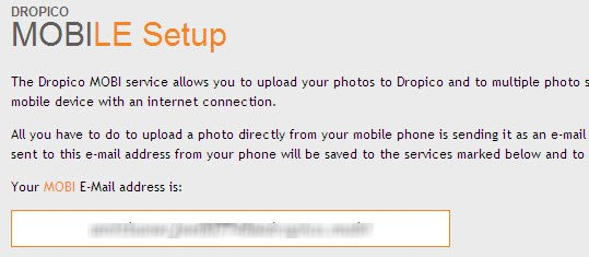 Dropico Mobi email address