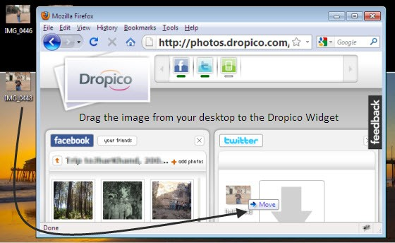 Dropico Photo Upload Process
