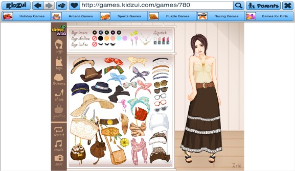 Kidzui Dress up Who game