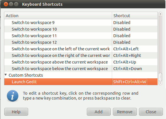 remap-key-gnome-assign-shortcut