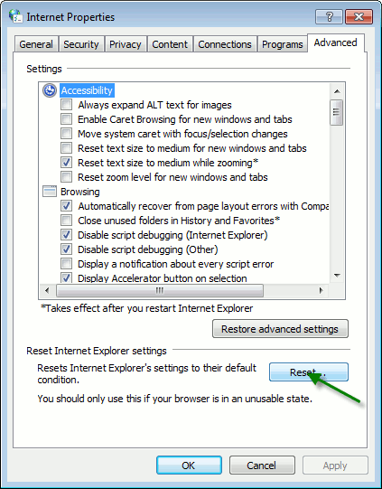 win7ie-select-reset