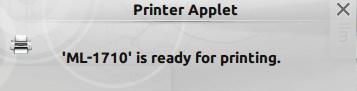 KDE printer ready notification