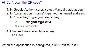 google-secretkey