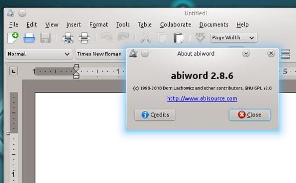 Abiword Oxygen-GTK theme