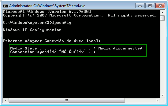 win7ci-cmd-ipconfig