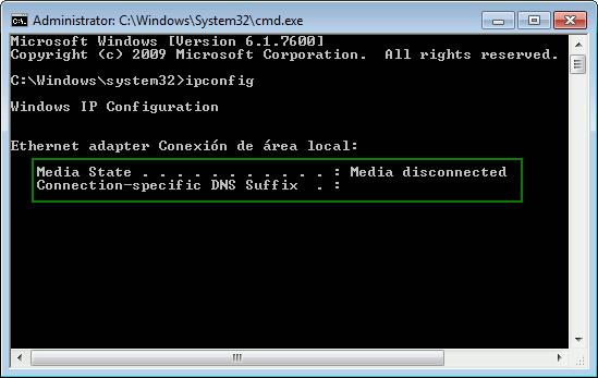 win7ci-cmd-ipconfig