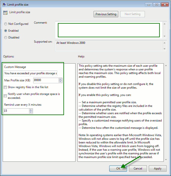 win7lps-limit-profile-size-settings