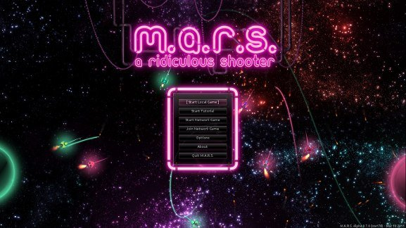 M.A.R.S. start screen