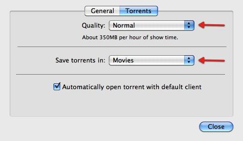TVShows  Preferences  Normal