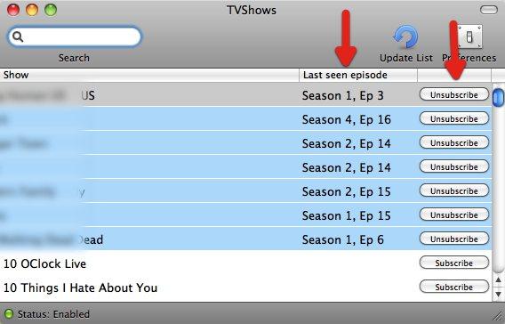 TVShows  Sub Unsub