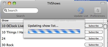 TVShows  Updating